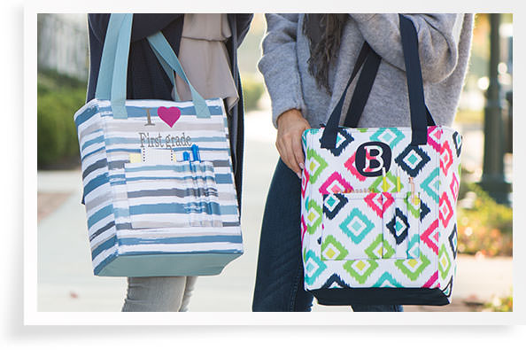 Tall Organizing Totes in new spring prints